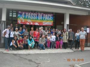 """Una foto tratta dalla manifestazione dell'associazione """"4 Passi di Pace"""" del 2 ottobre."""