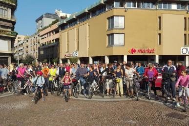 La pedalata a sostegno della ex-Saronno Seregno fatta a settembre 2016